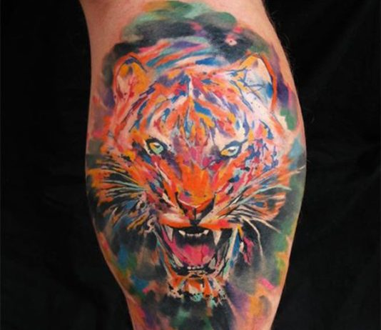 water color tattoos for men